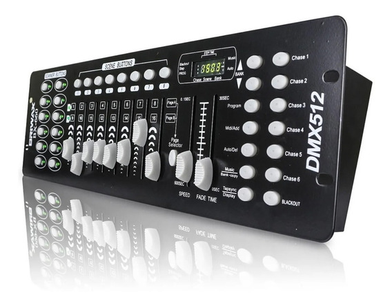 Mesa Iluminação Dmx 512 Efeitos Controladora 192 Canais Dj