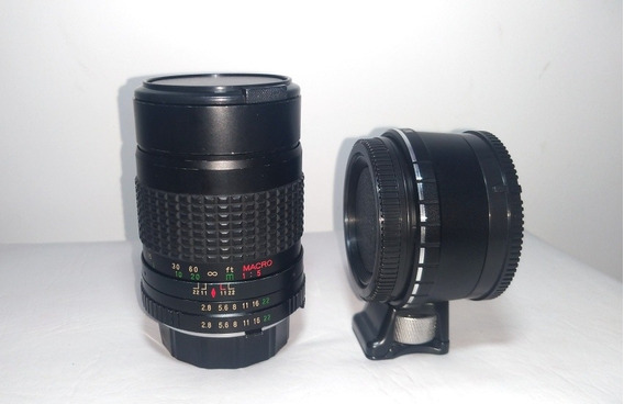 Lente Minolta Sicor-xl 135mm F2.8 Com Adaptador Para Sony