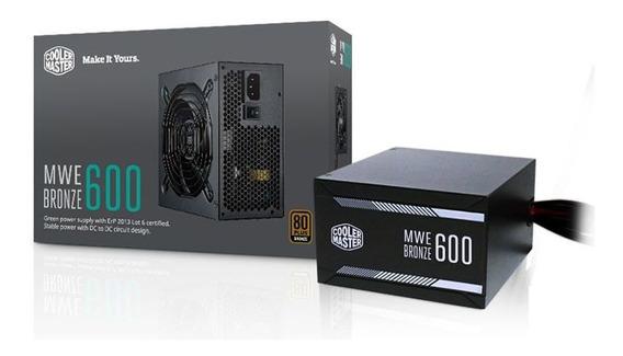 Fonte Atx 600w Cooler Master 80 Plus Bronze