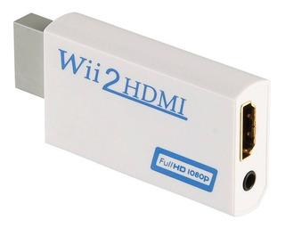 Convertidor Hdmi Nintendo Wii 720p 1080p Con Entrada 3.5mm