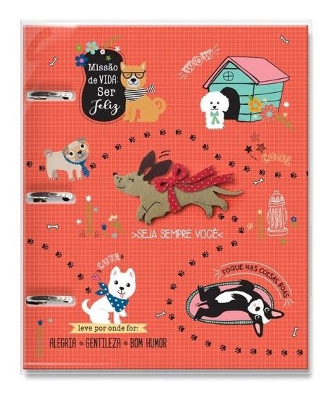 Caderno Argolado Fichário Cachorro Amigo - 12 Matérias