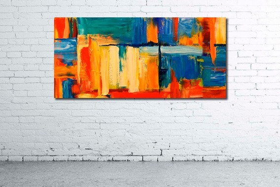 Mural 110x52cm Cuadro Decorativo Abstracto Moderno Diseño Personalizado