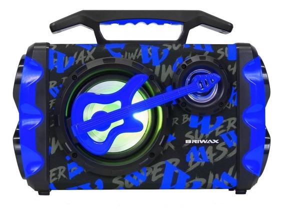 Caixa de som Briwax FBX-109 portátil sem fio Azul 110V/220V