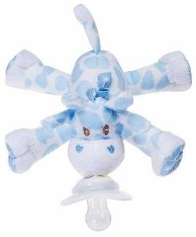 Nookums Prendedor Chupeta Girafa Azul Paci-plushies