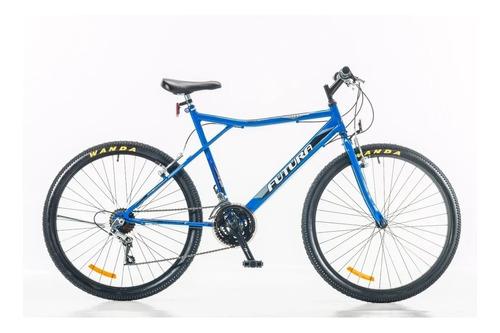 """Mountain bike Futura Techno 026 R26 18"""" 21v frenos v-brakes cambios Index color azul"""