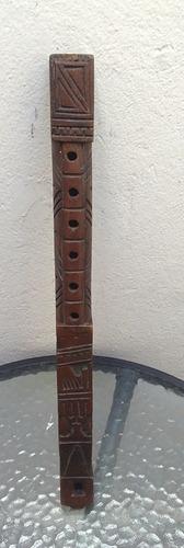 Imagen 1 de 4 de Flauta De Madera Artesanal De Bolivia