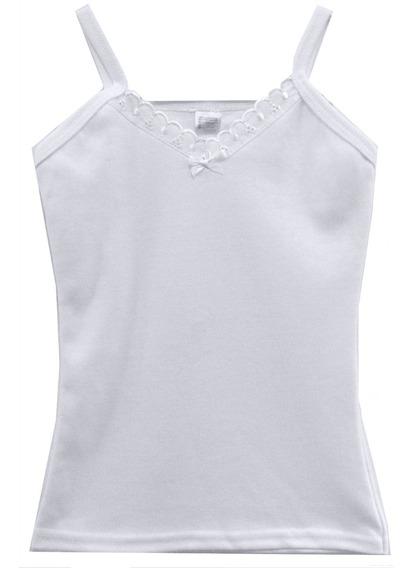 Blusa Body Blanca Para Niña Talla 2 A 16