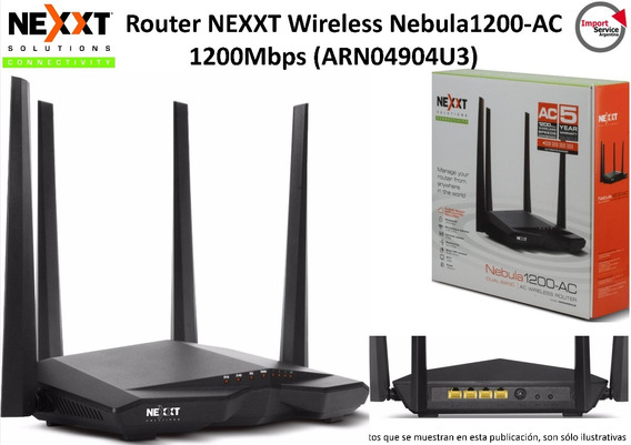 Router Nexxt Wireless Nebula1200-ac 1200mbps (arn04904u3)