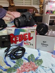 Camera Canon T5 Rebel + 2 Lentes + Acessorios