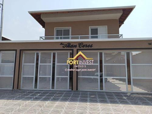 Casa Com 2 Dormitórios À Venda, 55 M² Por R$ 185.000,00 - Vila Sônia - Praia Grande/sp - Ca0536