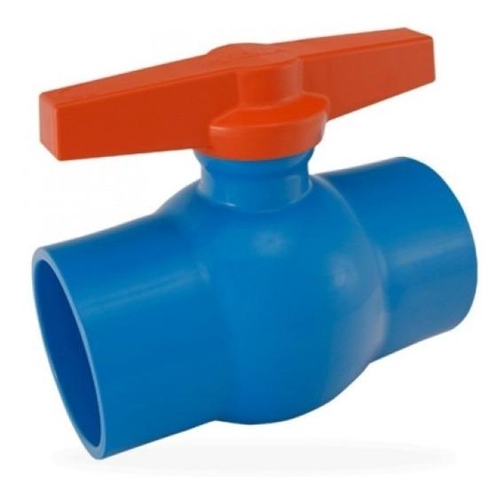 Registro Esfera Pvc Viqua Monobloco 50mm Irrigação Kit/6unid