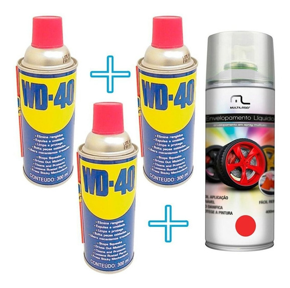 3 Spray Lubrificante Penetra Limpa E Protege + Spray Carro