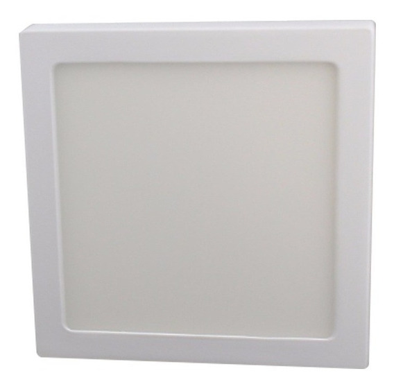 Lampara Led 12w Luminario Cuadrado Para Sobreponer Blanco