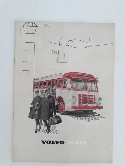 Folder Folheto Brochura Ônibus Volvo B 615 1955 Prospecto