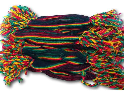 Imagem 1 de 6 de Pulseira Do Reggae Ref: 524 - Pacote Com 5 Dúzias