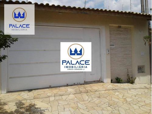 Casa Com 3 Dormitórios À Venda, 116 M² Por R$ 450.000,00 - São Vicente - Piracicaba/sp - Ca0777