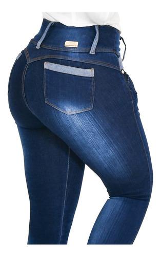Jeans Colombianos Levanta Pompas Tiro Alto Lt Rose As3b2017 Mercado Libre