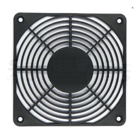 Rejilla Para Fan 120x120 Mm Plastico 12cm X 12cm