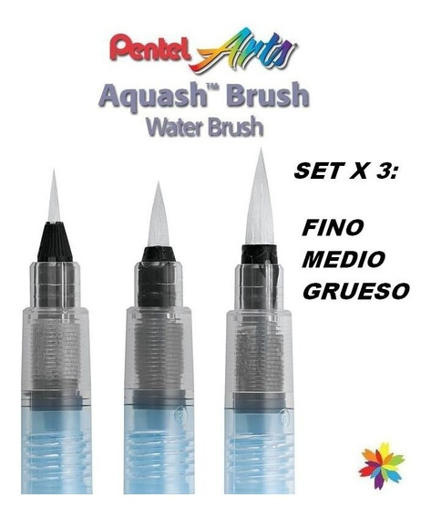 Waterbrush Pincel De Agua Pentel X3 F/m/g Japon Barrio Norte