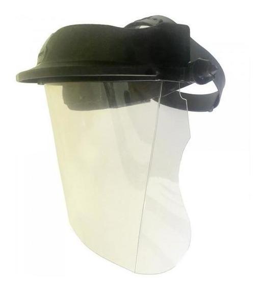 Protetor Facial Incolor C/ Catraca Alta Proteção C/ Ca + Nfe