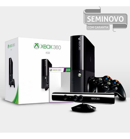 Xbox 360 Super Slim + Kinect + 2 Controles + Jogo