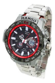 Reloj Mango Hombre 1640 Analógico Digital Crono Wr30 Fecha