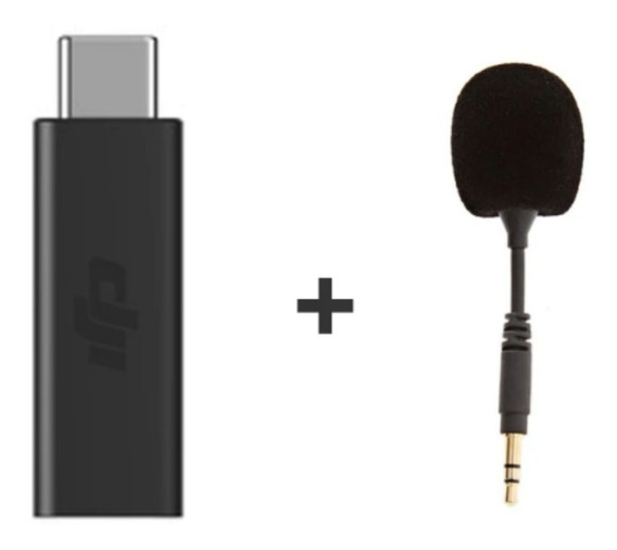 Dji Osmo Pocket Adaptador Microfone 3.5mm + Brinde Microfone