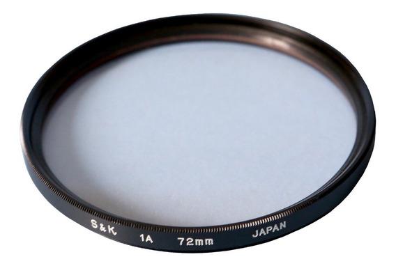 Filtro Uv Skylight 1a 72mm S&k Proteção Lente Poeira Riscos