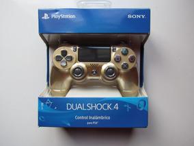 Controle Para Ps4 Dualshock Dourado Modelo Cuh-zct2u