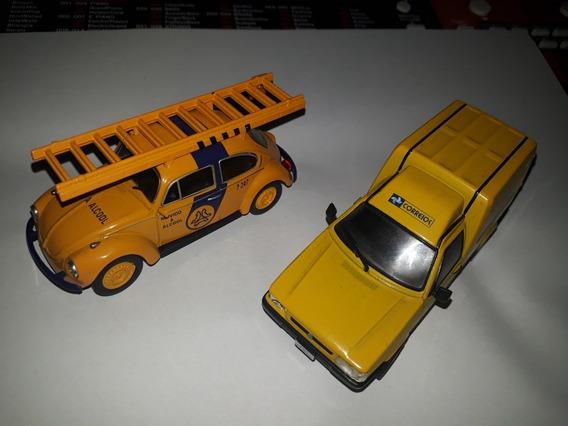 Miniaturas Carros Serviço Brasil 1/43 - Fusca E Fiat .