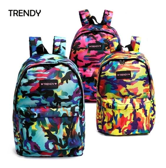 Mochila Urbana Escolar Trendy Original Impermeable 9881