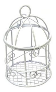 Jaula Chica Decorativa Blanco 5 Cm Diametro X 9 Cm Alto
