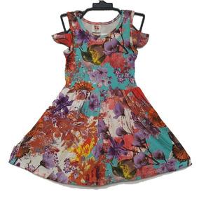 Vestido Infantil Casual Feminino Viscolycra Tam 1 2 3