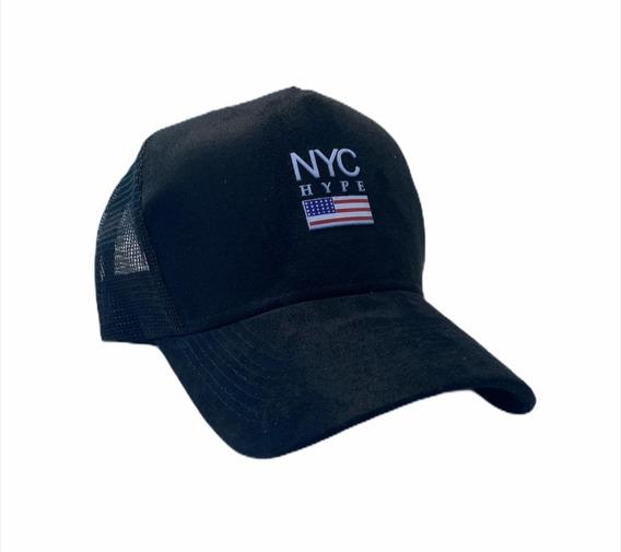 Boné Aba Curva Trucker Snapback Nyc New York City Eua