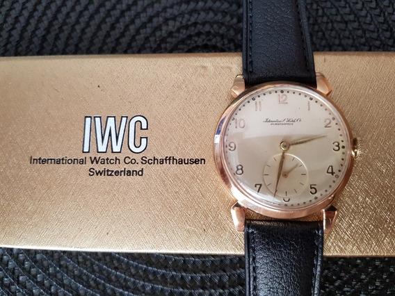 Relógio Iwc Ouro Maciço (pulseira Original Iwc Nova!)