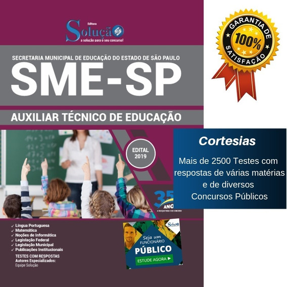 Apostila Sme Sp 2019 Auxiliar Técnico Educação De São Paulo