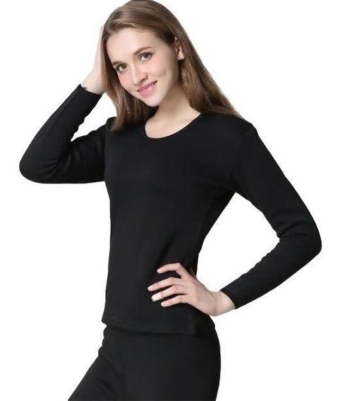 Blusa Camisa Térmica Flanelada Feminina