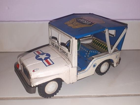 Jeep De Lata Brinquedo Antigo Marca Trade Mark Japones