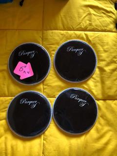 Parche 6 Pulgadas Percusion Parquer Plástico Negro