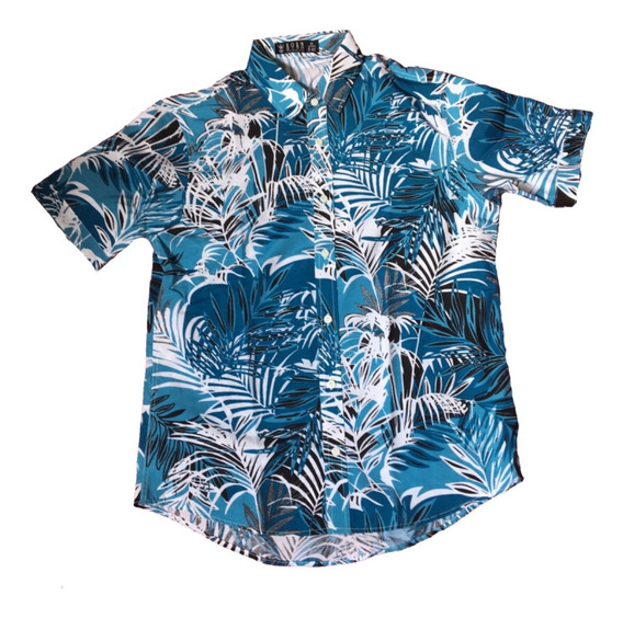 Camisas Social Floral Manga Curta Estampada Masculina Praia