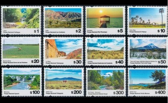 2019 Parques Nacionales- Serie Definitiva - Argentina Mnh