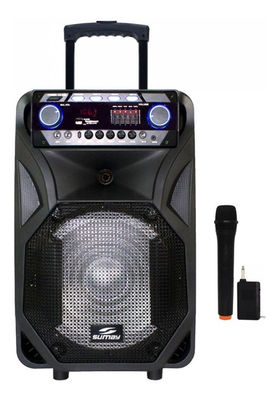 Caixa Som Amplificada Bluetooth Radio Fm Usb Toca Musica Mp3