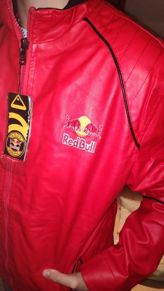 Jaqueta De Couro Ecologico Redbull Vermelha