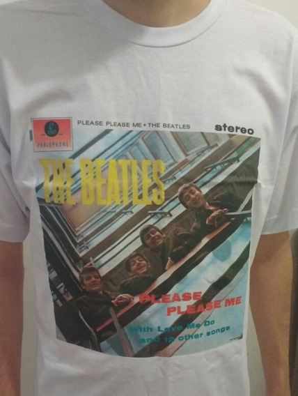 Camiseta Álbum Lp Dos Beatles - Please Please Me - M