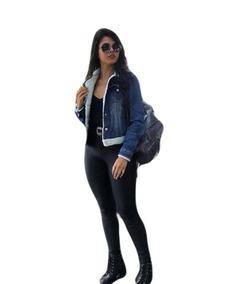 Jaqueta Jeans Feminina Pelinho Pelo Pelúcia