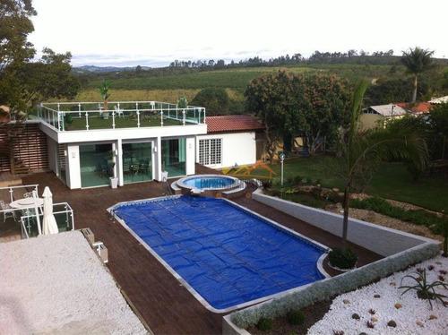 Imagem 1 de 12 de Chácara Com 4 Dormitórios À Venda, 2500 M² Por R$ 2.500.000 - Chácara Residencial Paraíso Marriot - Itu/sp - Ch0093