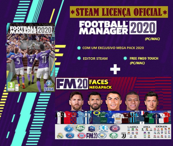 Football Manager 2020 Fm 2020 Oficial Steam + Mega Pack 2020