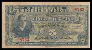 Cédula Bonus 5.000 Réis Osvaldo Aranha Ano 1933
