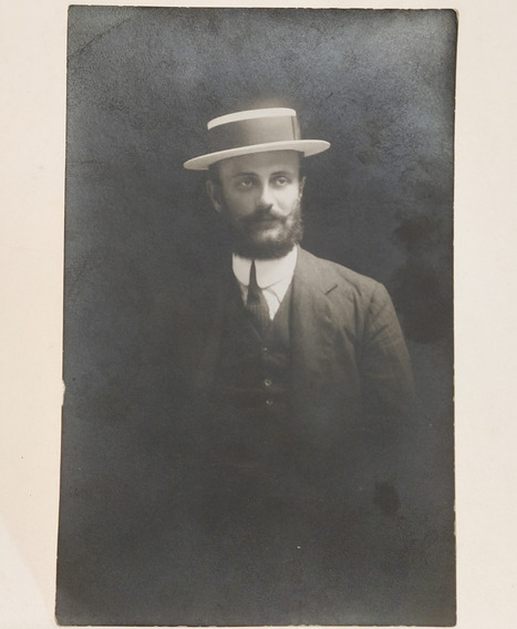 Tarjeta Postal Caballero Con Sombrero Fotografía