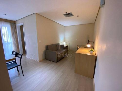 Imagem 1 de 20 de Flat Com 1 Dormitório Para Alugar, 45 M² Por R$ 1.300,00/mês - Centro - Santo André/sp - Fl0011